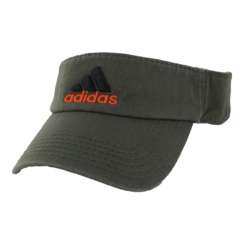 Mens adidas Weekend Warrior Visor Headwear - Earth Green/Orange