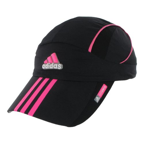 Womens adidas adiZero Sequence Cap Headwear - Black/Ultra Pop