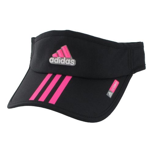 Womens adidas adiZero Sequence Visor Headwear - Black/Ultra Pop