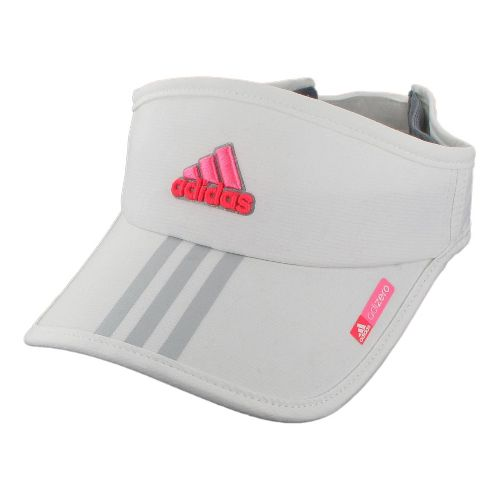 Womens adidas adiZero Sequence Visor Headwear - White/Hyper Pop