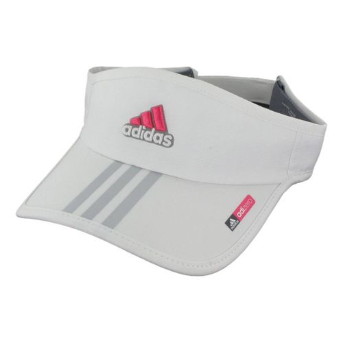 Womens adidas adiZero Sequence Visor Headwear - White/Joy Pink