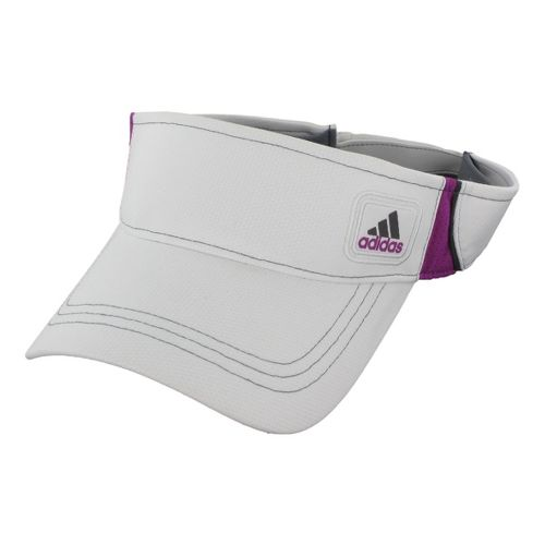 Womens adidas Athlete Visor Headwear - White/Vivid Pink