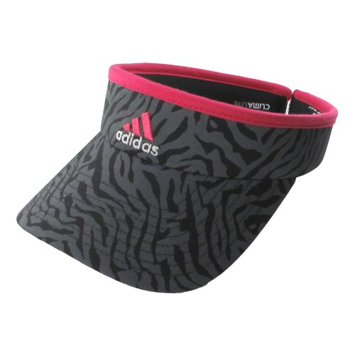 Womens adidas Match Visor Headwear - Black Zebra/Red Zest