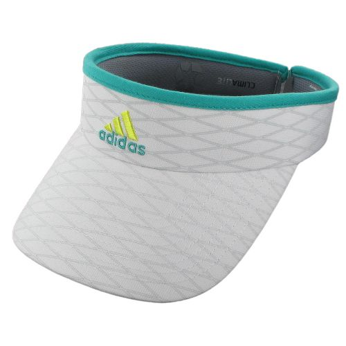 Womens adidas Match Visor Headwear - White/Hyper Green