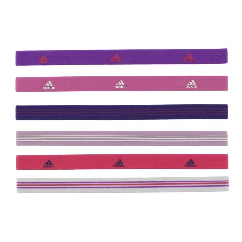 Womens adidas Sidespin Hairband 6 pack Headwear - Purple