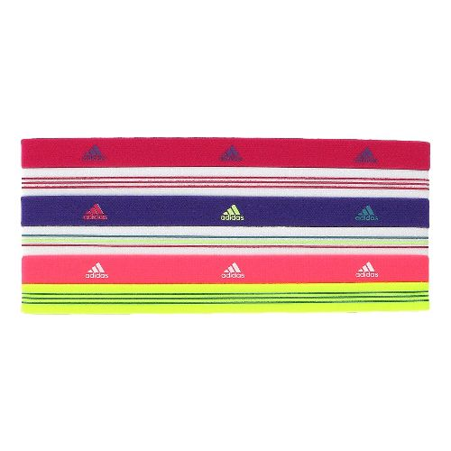 Womens adidas Sidespin Hairband 6 pack Headwear - Radiant Pink/Sharp Purple