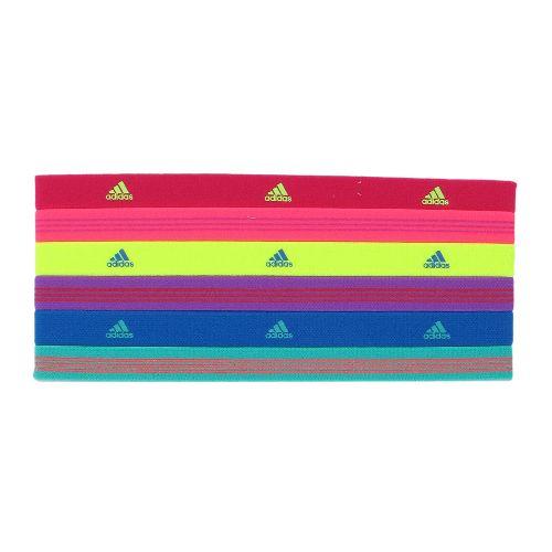 Womens adidas Sidespin Hairband 6 pack Headwear - Radiant Pink/Turbo
