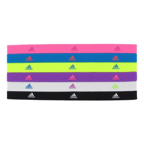 Womens adidas Sidespin Hairband 6 pack Headwear - Ultra Pop/Sharp Blue