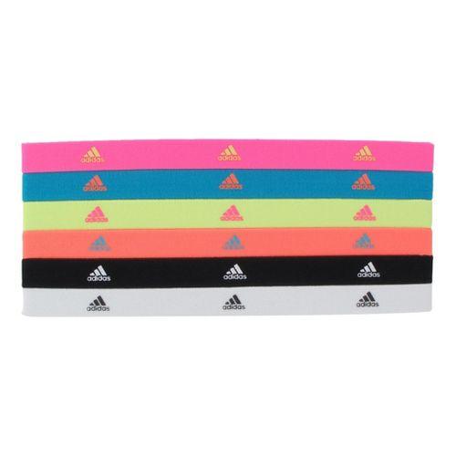 Womens adidas Sidespin Hairband 6 pack Headwear - Ultra Pop/Super Cyan