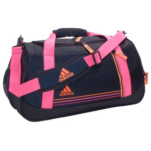 Womens adidas Squad Duffel Bags - Mercury Grey/Ultra Pop