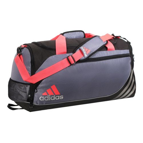 adidas Team Speed Duffel Medium Bags - Lead/Red Zest