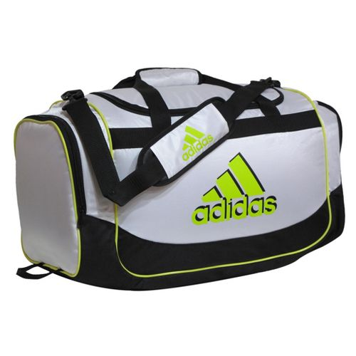 adidas Defender Duffel Medium Bags - White/Lab Lime