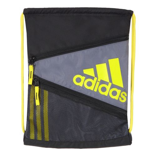 adidas Closer Sackpack Bags - Lead/Vivid Yellow