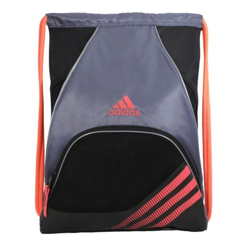 adidas Team Speed Sackpack Bags - Lead/Red Zest