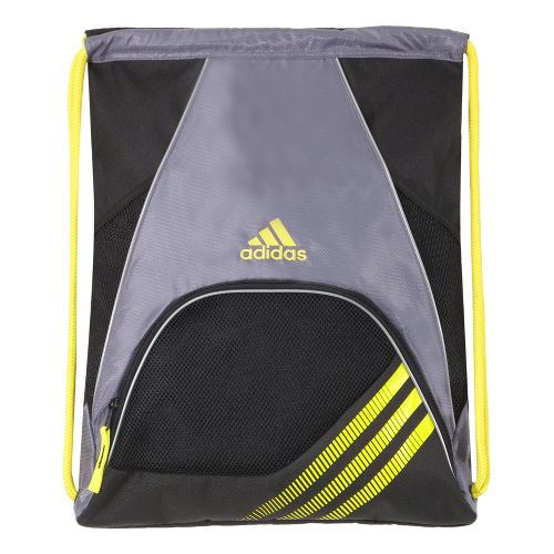 adidas Team Speed Sackpack Bags - Lead/Vivid Yellow