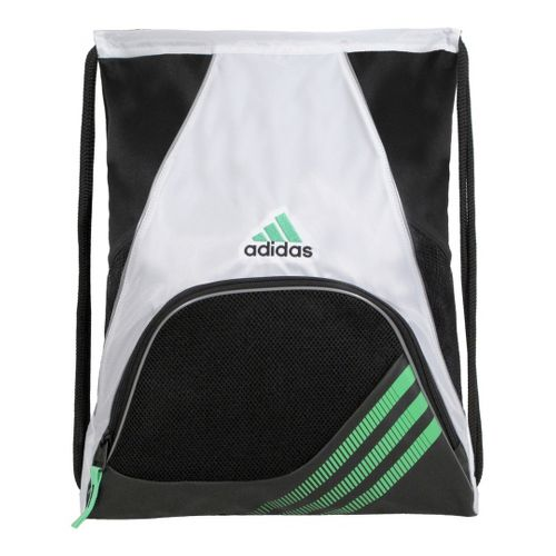 adidas Team Speed Sackpack Bags - White/Green Zest