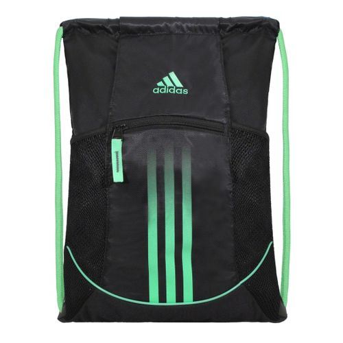 adidas Alliance Sport Sackpack Bags - Black/Green Zest