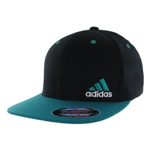 Mens adidas Eagle Flex Fit Cap Headwear - Black/Hyper Green L/XL