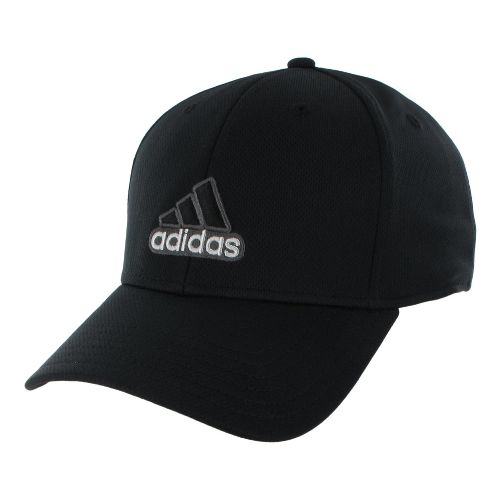 Mens adidas Closer Stretch Cap Headwear - Black/Dark Onix S/M