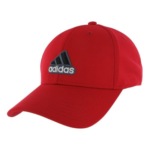 Mens adidas Closer Stretch Cap Headwear - Black/University Red XXL