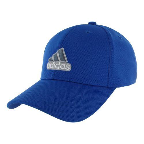 Mens adidas Closer Stretch Cap Headwear - Cobalt/White S/M