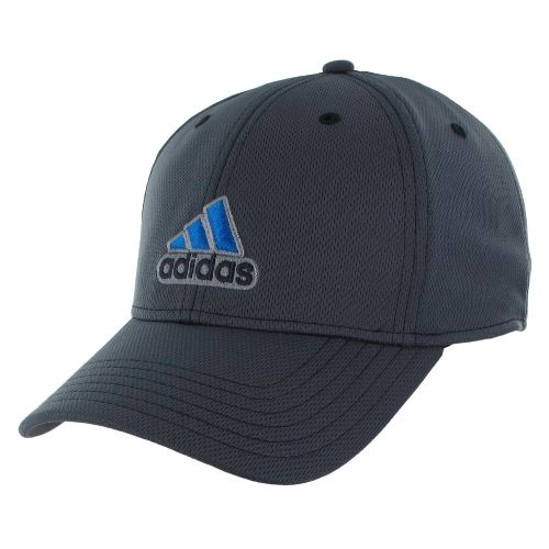 Mens adidas Closer Stretch Cap Headwear - Dark Onix/Bright Blue S/M