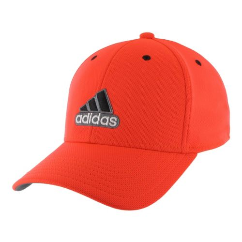 Mens adidas Closer Stretch Cap Headwear - Infrared/Black S/M