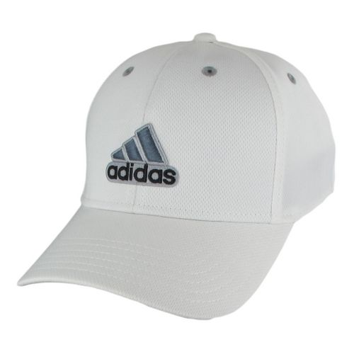 Mens adidas Closer Stretch Cap Headwear - White/Black S/M