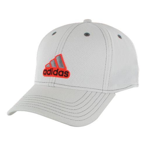 Mens adidas Closer Stretch Cap Headwear - White/Infra-Red XXL