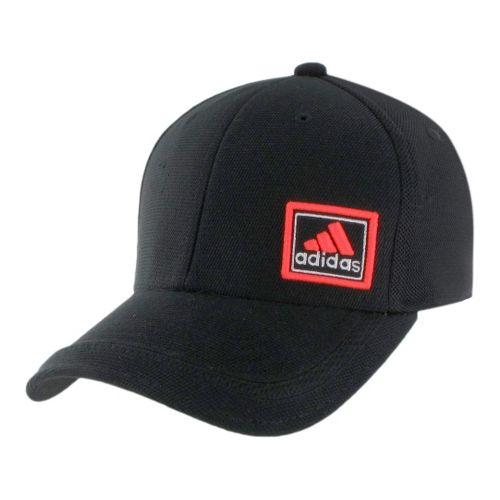 Mens adidas Prospect Stretch Cap Headwear - Black/Inferno S/M