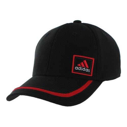 Mens adidas Prospect Stretch Cap Headwear - Black/Light Scarlet L/XL