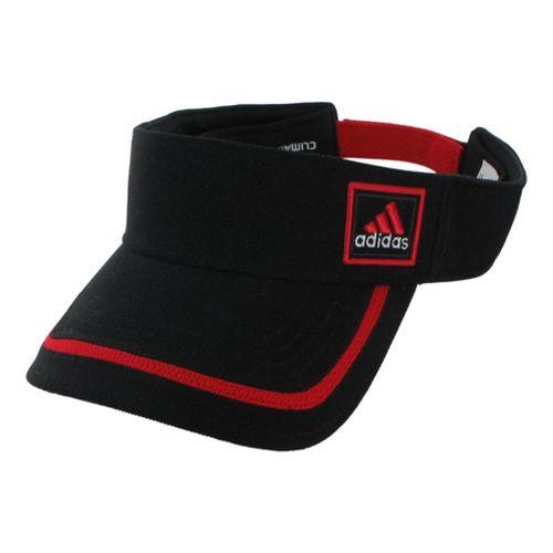 Mens adidas Prospect Visor Headwear - Black/Light Scarlet