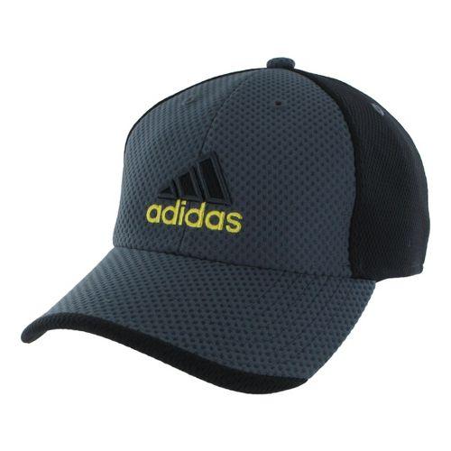 Mens adidas Elite Cap Headwear - Dark Onyx/Vivid Yellow