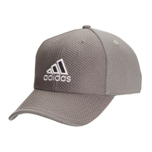 Mens adidas Elite Cap Headwear - Medium Lead/White