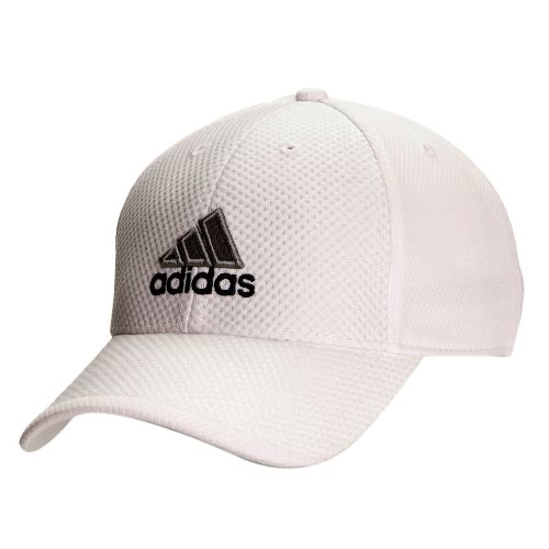 Mens adidas Elite Cap Headwear - White/Medium Lead