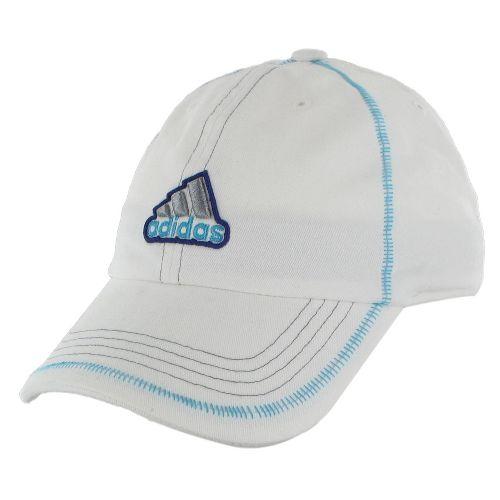 Womens adidas Sol Cap Headwear - White/Super Cyan