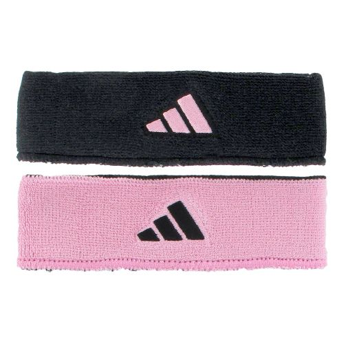 adidas Interval Reversible Headband Headwear - Black/Gala Pink