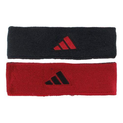 adidas Interval Reversible Headband Headwear - Black/University Red