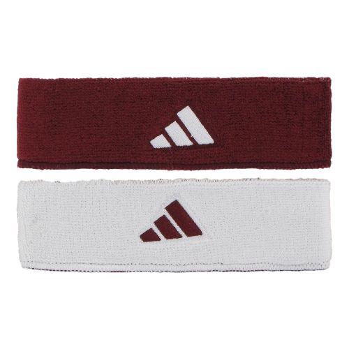 adidas Interval Reversible Headband Headwear - Cardinal/White