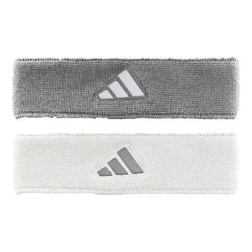 adidas Interval Reversible Headband Headwear - Heathered Aluminum/White