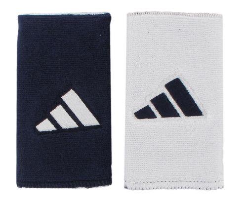 adidas Interval Large Reversible Wristband Handwear - Collegiate Navy/White