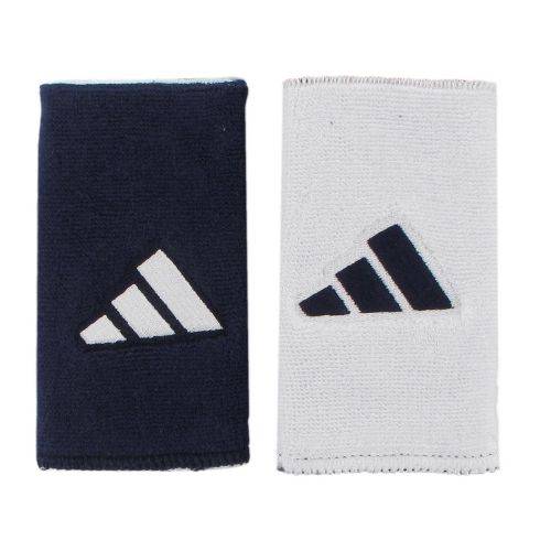 adidas Interval Large Reversible Wristband Handwear - Collegiate Navy/White