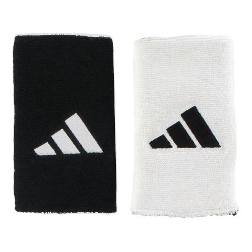 adidas Interval Large Reversible Wristband Handwear - White/Black