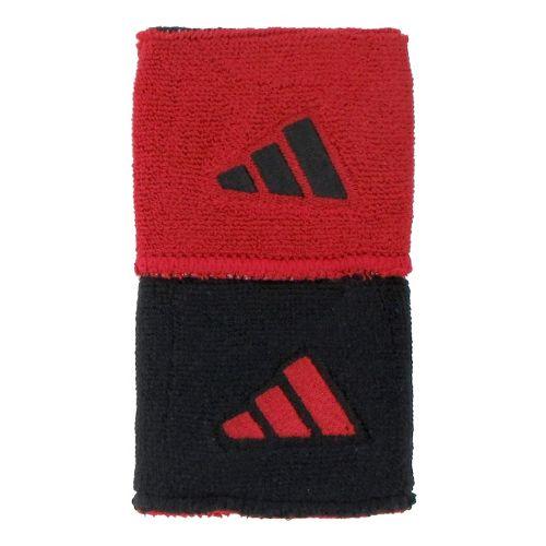 adidas Interval Reversible Wristband Handwear - Black/University Red