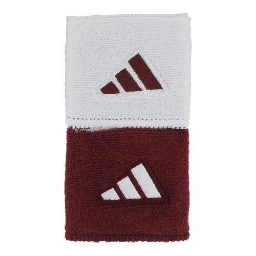 adidas Interval Reversible Wristband Handwear - Cardinal/White