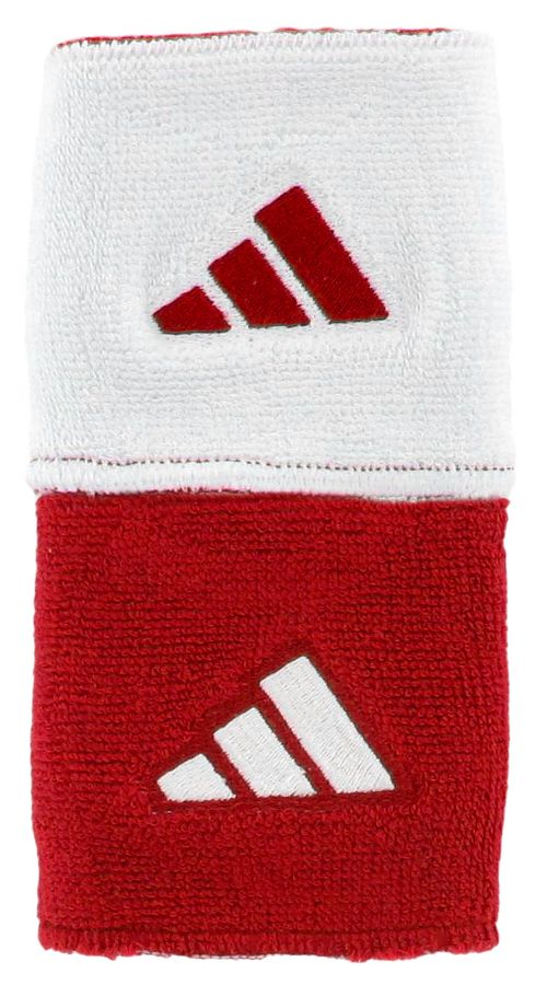 adidas Interval Reversible Wristband Handwear - University Red/White