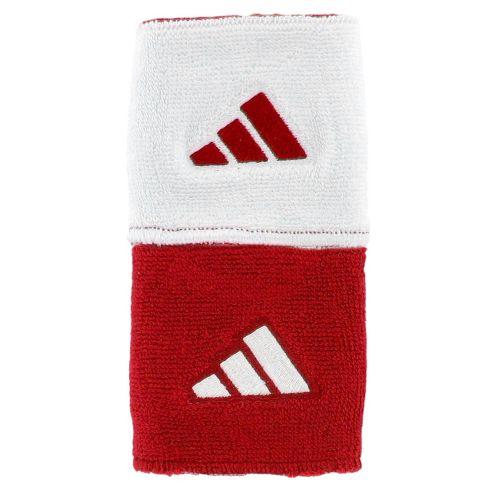 adidas Interval Reversible Wristband Handwear - University Red/White