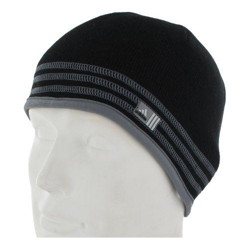 Mens adidas Team Speed Beanie Headwear - Black/Tech Grey