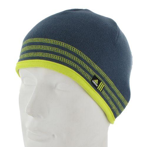Mens adidas Team Speed Beanie Headwear - Dark Onyx/Lab Lime