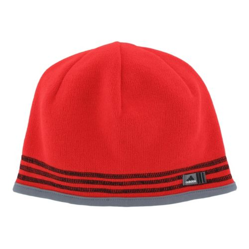 Mens adidas Team Speed Beanie Headwear - Hi Res Red/Black